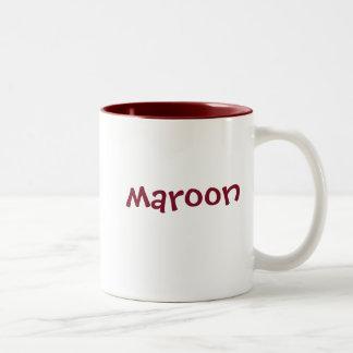 置かれる色のマグ: あずき色、一致のあずき色のインテリア ツートーンマグカップ