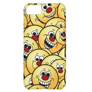 置かれるGrumpeysの幸せなスマイリーフェイス iPhone5Cケース