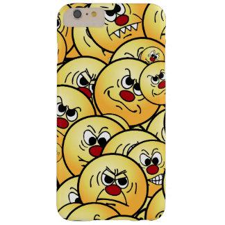 置かれるGrumpeysの怒っているスマイリーフェイス Barely There iPhone 6 Plus ケース
