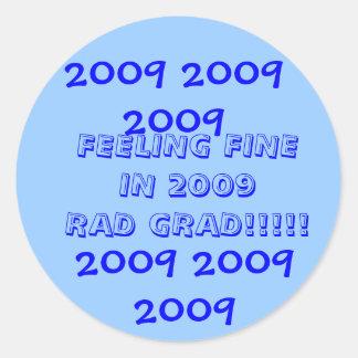 罰金の2009年の卒業生を感じること ラウンドシール