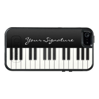 署名が付いているピアノ鍵 オッターボックスiPhone SE/5/5s ケース