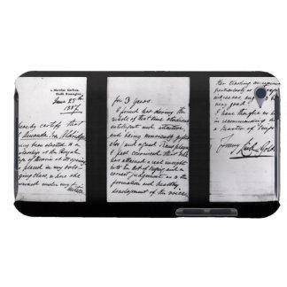 署名された手紙1887年(紙ペンとインク) (b/w pHで Case-Mate iPod Touch ケース