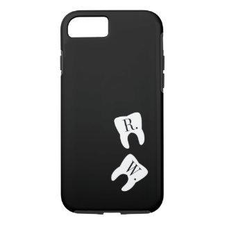 署名された歯の歯科の記号のカスタム iPhone 8/7ケース
