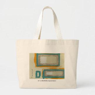 署名する柔らかく、はっきりしたなRothkoによってインスパイア抽象芸術 ラージトートバッグ
