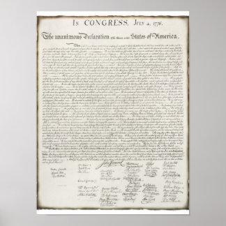 署名との独立宣言 ポスター