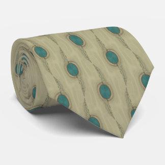 署名のターコイズのマクロドット・パターンのネクタイ ネクタイ