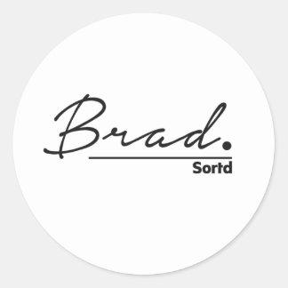 署名白い背景の一流のBrad ラウンドシール