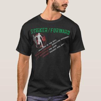 罷業者か前方役割(黒) Tシャツ