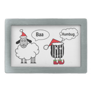 羊の鳴き声のばかばかしくおもしろいなお祝いのベルトの留め金 長方形ベルトバックル