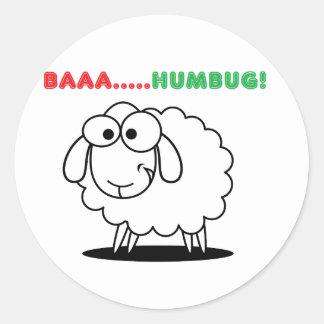 羊の鳴き声….ばかばかしい! ラウンドシール