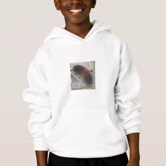 羊毛質くま幼虫のスエットシャツ