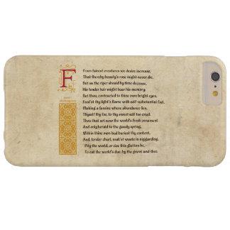 羊皮紙のシェークスピアのソネット1 BARELY THERE iPhone 6 PLUS ケース