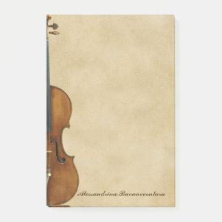 羊皮紙の一見のカスタマイズ可能な名前のバイオリン ポストイット