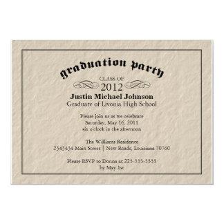 羊皮紙の卒業パーティー 12.7 X 17.8 インビテーションカード
