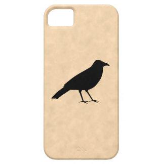 羊皮紙パターンの黒いカラスの鳥 iPhone SE/5/5s ケース