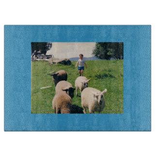羊飼いおよびヒツジのまな板 カッティングボード