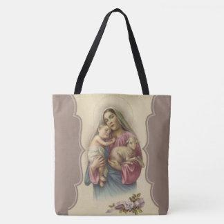 羊飼いのイエス・キリストのよい子ヒツジの私達の女性 トートバッグ