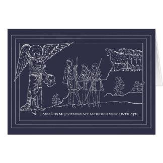 羊飼いのクリスマスカードへの告知 カード