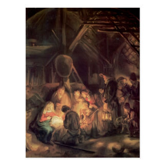 羊飼いのレンブラントの崇敬 ポストカード