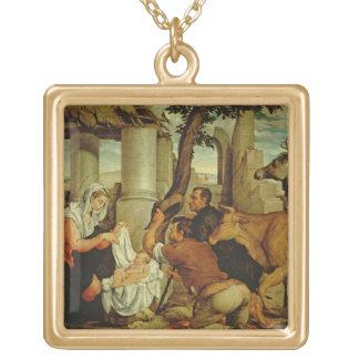 羊飼いの崇敬 ゴールドプレートネックレス