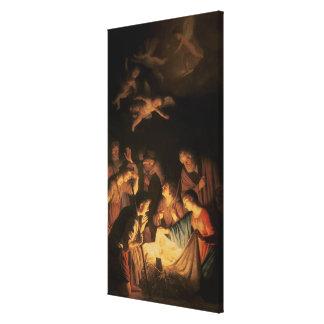 羊飼いの崇敬、1617年(キャンバスの油) キャンバスプリント