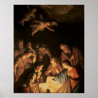 羊飼いの崇敬、1617年(キャンバスの油) ポスター