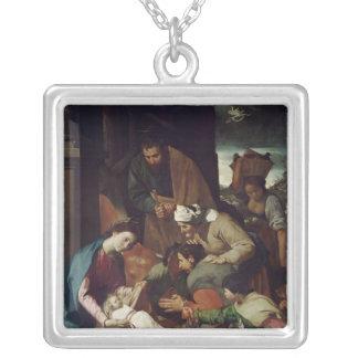 羊飼いの崇敬、1630年 シルバープレートネックレス