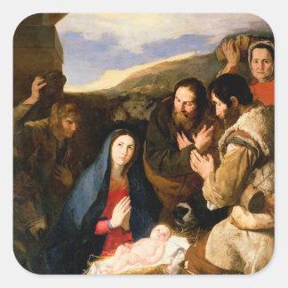 羊飼いの崇敬、1650年 スクエアシール