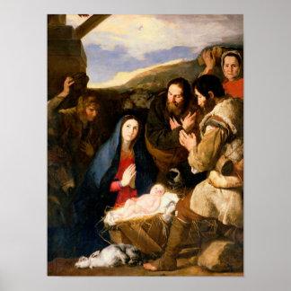 羊飼いの崇敬、1650年 ポスター