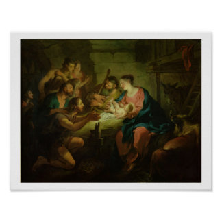 羊飼いの崇敬、1725年(canvaの油 ポスター