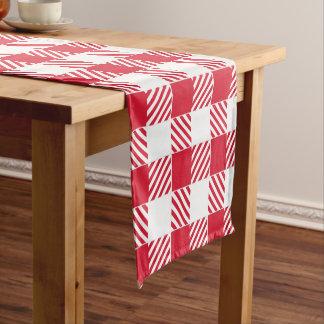 羊飼いの点検の赤と白のテーブルのランナー ショートテーブルランナー