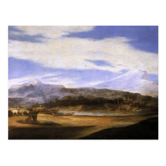 羊飼いを持つJusepe de Ribera- Landscape ポストカード