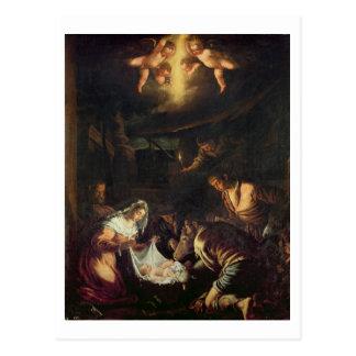 羊飼い(キャンバスの油)の崇敬 ポストカード