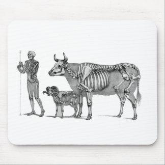 羊飼い-骨組ウシおよびヤギ マウスパッド
