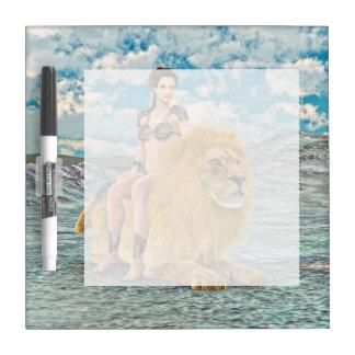 美しいおよびライオン ホワイトボード