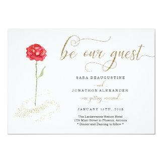 美しいおよび獣の結婚式招待状 カード