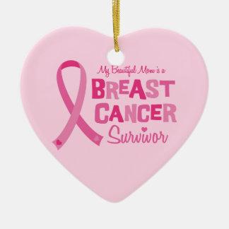 美しいお母さんの乳癌の生存者のオーナメント セラミックオーナメント