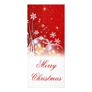 """美しいお祝いの""""メリークリスマス""""のイラストレーション ラックカード"""
