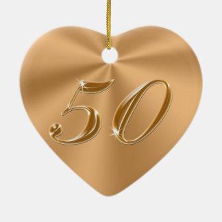 美しいけれども安く第50記念日のギフト セラミックオーナメント