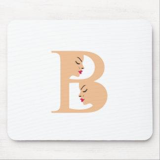 美しいのためのアルファベットBの顔 マウスパッド