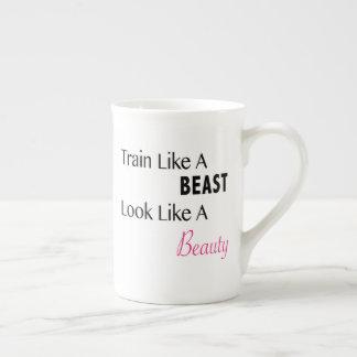 美しいのように獣の見えのような列車 ボーンチャイナカップ