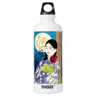 美しいの若い女の子のNatoriのクールな日本の満月 ウォーターボトル