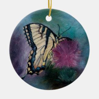 美しいの蝶オーナメント セラミックオーナメント