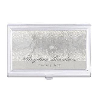 美しいの銀製の柔らかいグリッター贅沢な箱のホールダー 名刺入れ
