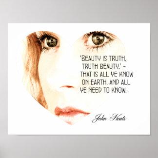 美しいは真実-ジョン・キーツ-芸術のプリントです ポスター