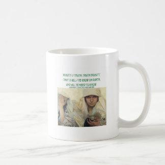 美しいは真実、真実の美しいです コーヒーマグカップ