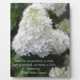 美しいは神の手書きの花のイーゼルのプラクです フォトプラーク