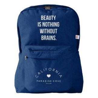 美しいは頭脳のバックパックなしでは何もではないです AMERICAN APPAREL™バックパック