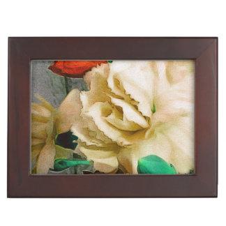 美しいばら色の花柄の抽象芸術 ジュエリーボックス