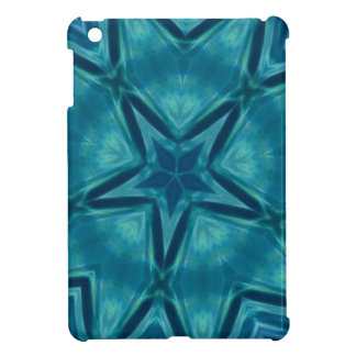 美しいアクアマリンの星形のマンデラパターン iPad MINIケース